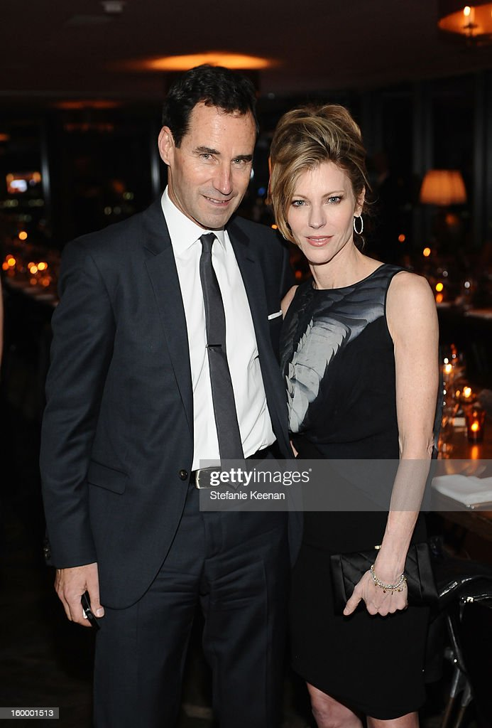 SVP, Publisher and Chief Revenue Officer Kevin O'Malley and ELLE Editor-in-Chief Robbie Myers attend the ELLE's Women in Television Celebration at Soho House on January 24, 2013 in West Hollywood, California.