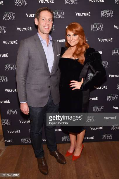 Publisher and CRO at New York Media Avi Zimak and actress Julie Klausner attend Vulture Hulu's screening of 'Difficult People' on August 7 2017 in...