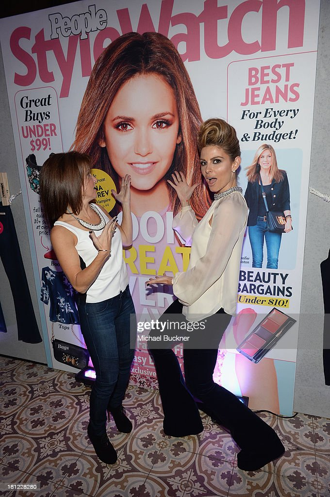 Publisher at People StyleWatch Stephanie Sladkus and tv personality <a gi-track='captionPersonalityLinkClicked' href=/galleries/search?phrase=Maria+Menounos&family=editorial&specificpeople=203337 ng-click='$event.stopPropagation()'>Maria Menounos</a> attend People StyleWatch Denim Awards presented by GILT at Palihouse on September 19, 2013 in West Hollywood, California.