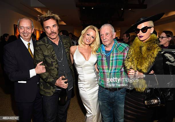 Publisher Benedikt Taschen photographer David LaChapelle actress Pamela Anderson photographer David Bailey and model Amber Rose attend TASCHEN And...