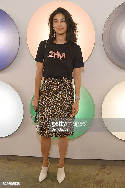 Publisher Caroline Issa attends the Boss Womenswear fashion show during New York Fashion Week September 2016 at The Gallery Skylight at Clarkson Sq...