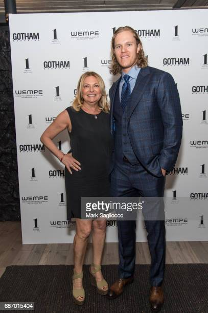 Publisher Debra Halpert and New York Mets Pitcher Noah Syndergaard attend Gotham Magazine's Celebration of it's Late Spring Issue with Noah...