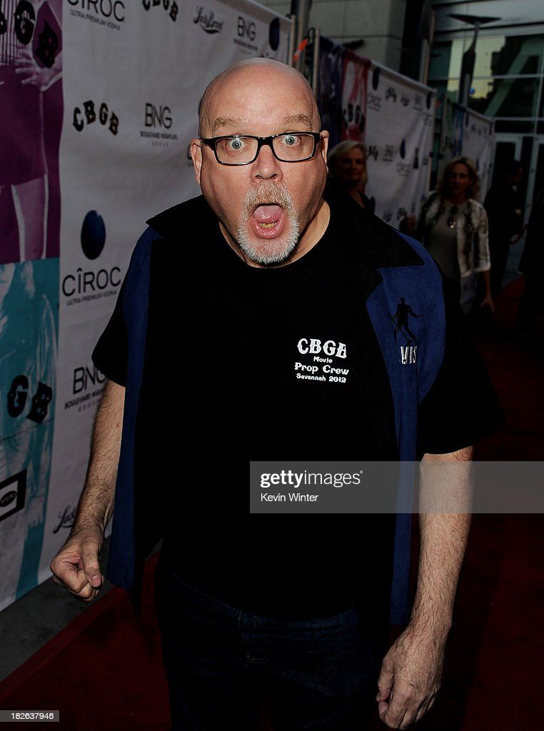 Publisher John Holmstrom arrives at the screening of XLrator Media's 'CBGB' at the Arclight Theatre on October 1, 2013 in Los Angeles, California.