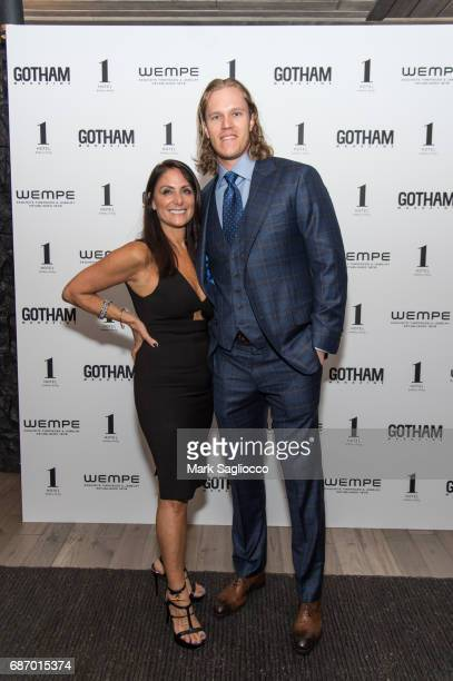 Publisher Lynn Scotti Kassar and New York Mets Pitcher Noah Syndergaard attend Gotham Magazine's Celebration of it's Late Spring Issue with Noah...