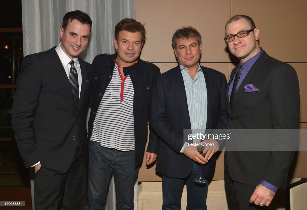 Publisher of Billboard magazine Tommy Page, <a gi-track='captionPersonalityLinkClicked' href=/galleries/search?phrase=Paul+Oakenfold&family=editorial&specificpeople=220280 ng-click='$event.stopPropagation()'>Paul Oakenfold</a>, founder co-CEO of AAM Andy Kipnes and Editorial Director of Billboard magazine Bill Werde attend the Friends N Family Dinner Hosted by Mark Beaven and Andy Kipnes at Scarpetta on February 7, 2013 in Beverly Hills, California.