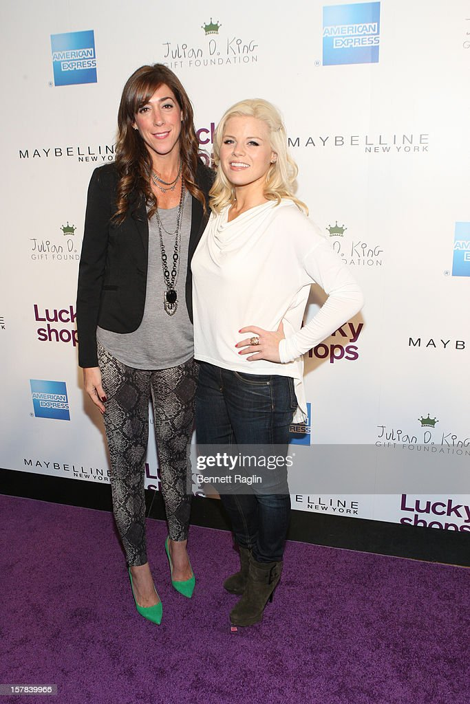 Publisher of Lucky Magazine Marcy Bloom and actress <a gi-track='captionPersonalityLinkClicked' href=/galleries/search?phrase=Megan+Hilty&family=editorial&specificpeople=602492 ng-click='$event.stopPropagation()'>Megan Hilty</a> attend the 9th Annual Lucky Shops Event at 82 Mercer on December 6, 2012 in New York City.