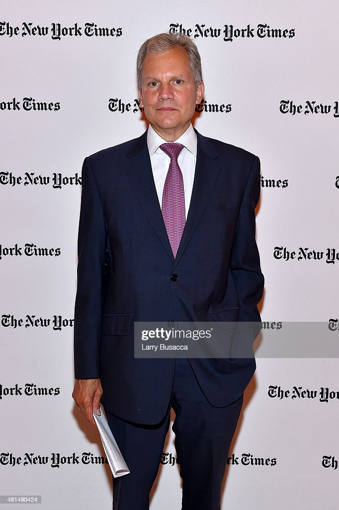 Publisher of New York Times and Chairman of New York Times Company Arthur Ochs Sulzberger Jr attends NY Times Cities For Tomorrow Conference on July...