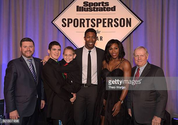 Publisher of Sports Illustrated Brendan Ripp Award winners SI High School Athlete of the Year Hunter Gandee with brother Braden Gandee SI Kids 2015...