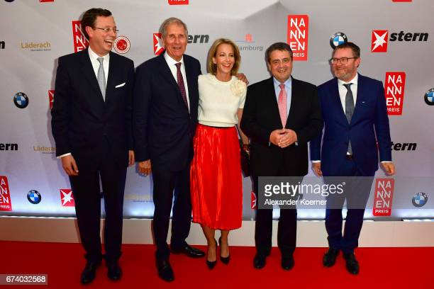 Publisher of Stern Magazine Alexander von Schwerin journalist Ulrich Wickert CEO Gruner Jahr Julia Jaekel Minister for Foreign Affairs Sigmar Gabriel...