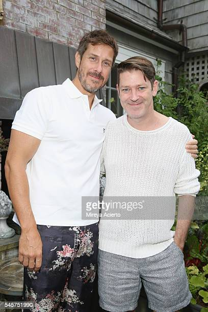 Publisher of The Daily Front Row Group Mark Tevis and deputy editor at Daily Front Row Eddie Roche attend Daily Front Row's Boys of Summer party on...