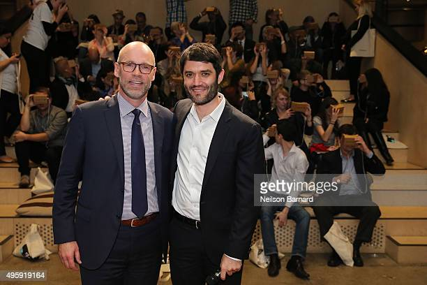 Publisher of The New York Times Magazine Andy Wright and Editor of The New York Times Magazine Jake Silverstein attend The New York Times's NYTVR...