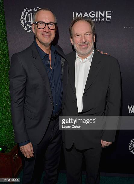 """Publisher of Vanity Fair Edward Menicheschi and Composer Hans Zimmer attend Vanity Fair and the Fiat brand Celebration of """"Una Notte Verde"""" with Hans..."""