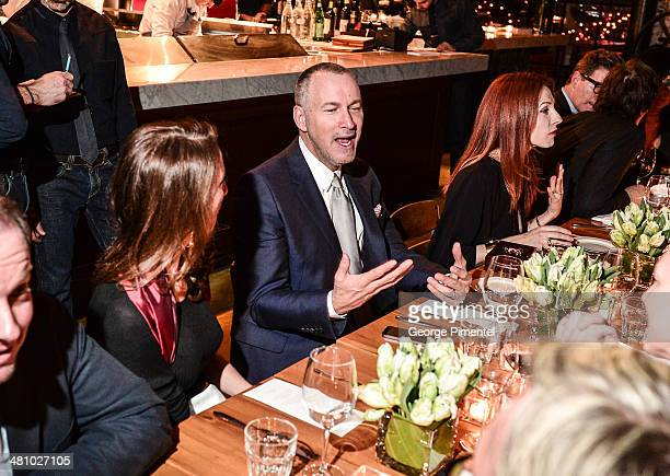 Publisher of Vanity Fair Edward Menicheschi attends the Vanity Fair And Gucci Private Dinner at Gusto 101 on March 27 2014 in Toronto Canada