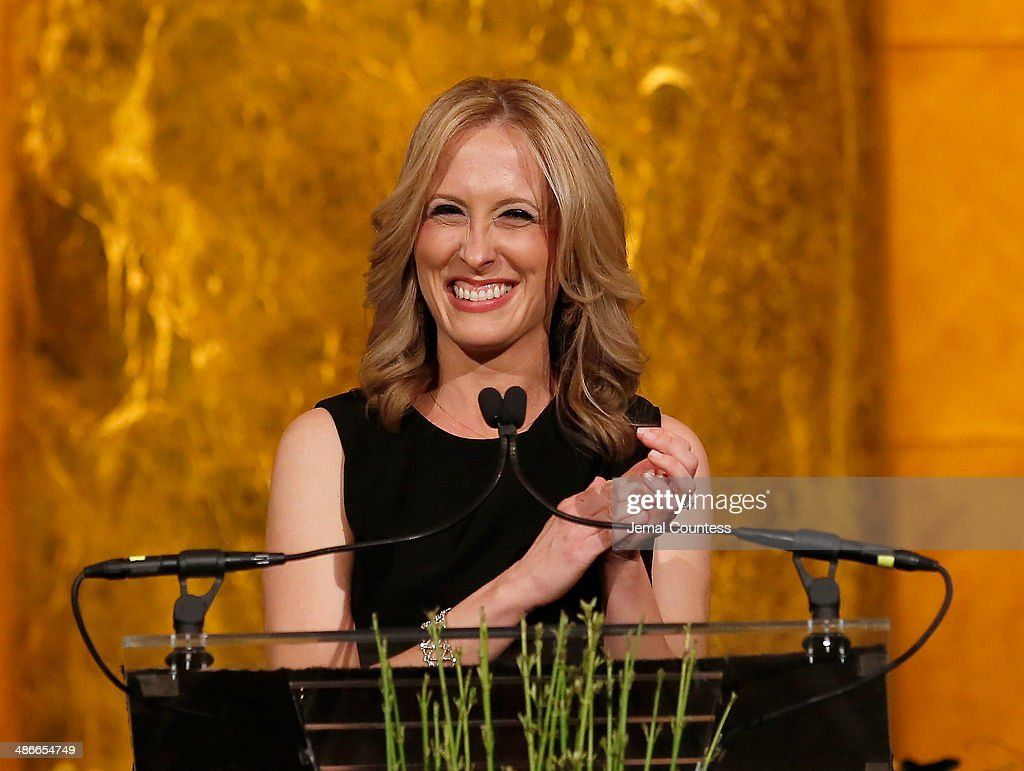 Publisher of Variety Michelle Sobrino speaks onstage at Variety Power Of Women New York presented by FYI at Cipriani 42nd Street on April 25 2014 in...