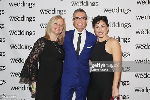 Publisher Patti Follo fashion designer Randy Fenoli and editoratlarge at Martha Stewart Living Amy Conway attend the Martha Stewart Weddings Bridal...