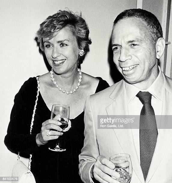 Publisher SI Newhouse Jr and editor Tina Brown attending 'Holy TerrorAndy Warhol Close Up' on August 8 1990 at the Factory in New York City New York