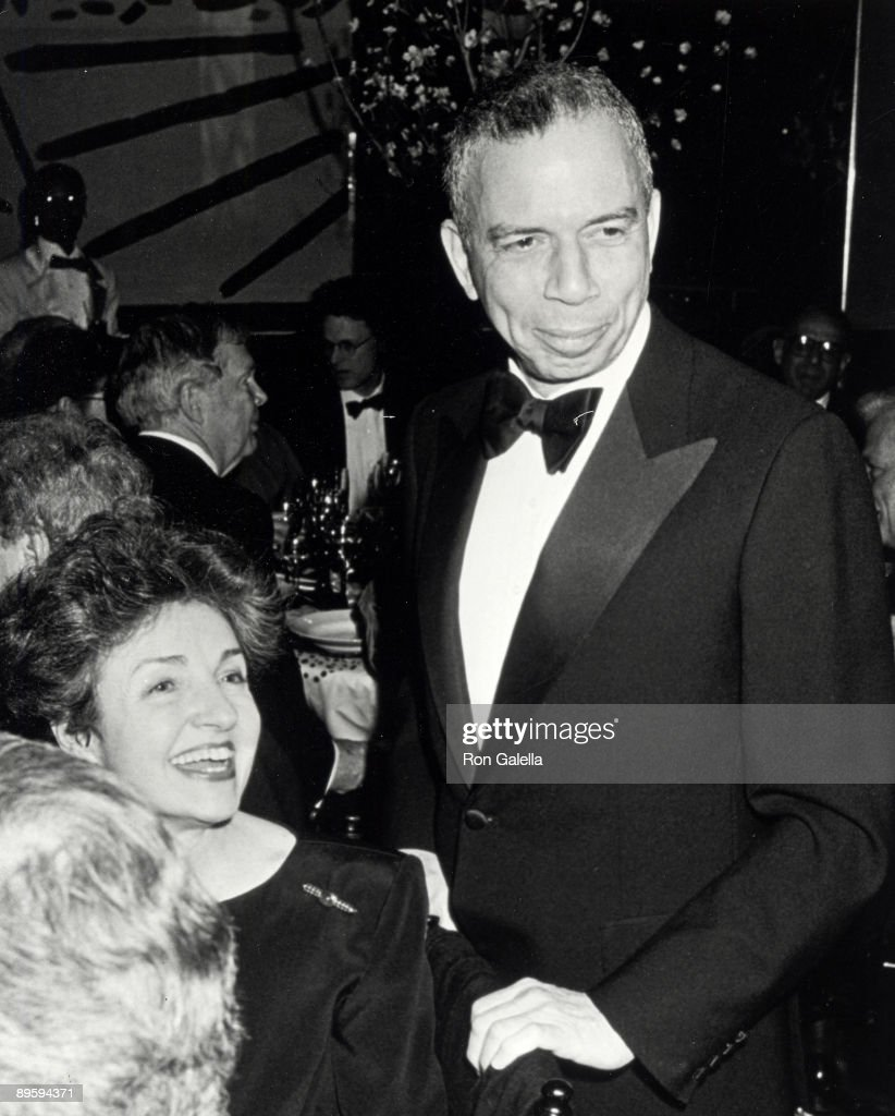 Publisher S.I. Newhouse Jr. and Susan Newhouse attending Fourth Annual PEN American Montblanc Literary Gala on April 4, 1990 at the Roseland Ballroom in New York City, New York.