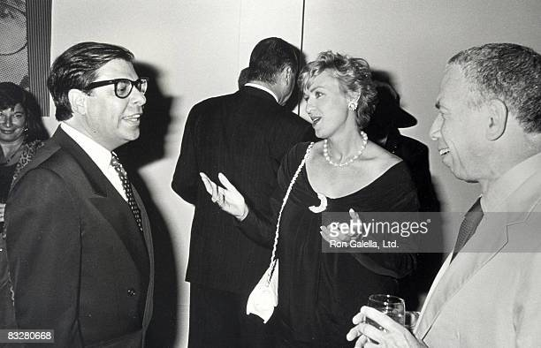 Publisher SI Newhouse Jr author Bob Colacello and editor Tina Brown attending 'Holy TerrorAndy Warhol Close Up' on August 8 1990 at the Factory in...