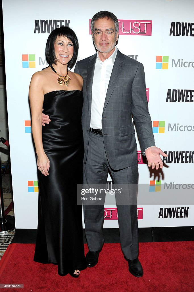 ADWEEK publisher Suzan Gursoy (L) and CEO of Clear Channel Bob Pittman attend the 2013 Adweek Hot List gala at Capitale on December 2, 2013 in New York City.