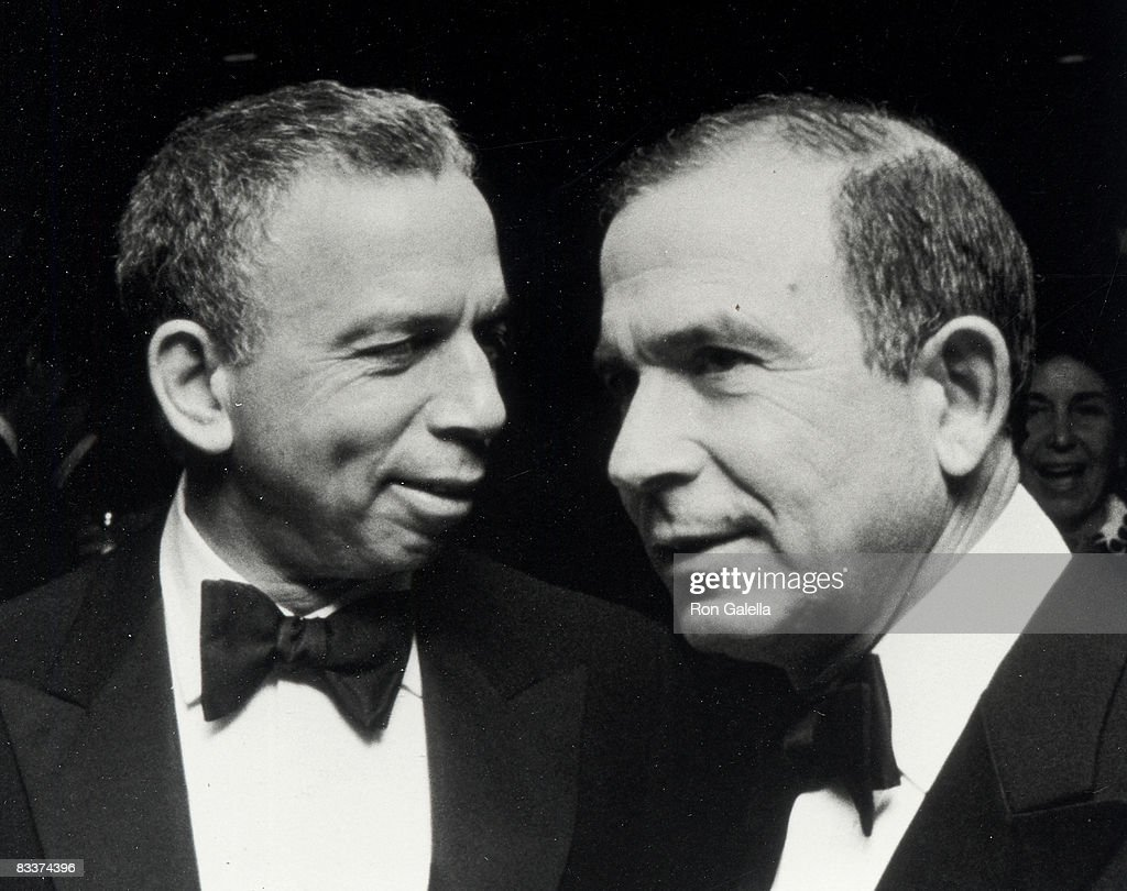 Publishers S.I. Newhouse Jr. and Donald Newhouse attending Fourth Annual PEN American Montblanc Literary Gala on April 4, 1990 at the Roseland Ballroom in New York City, New York.