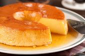 Pudim, a delicious brazilian dessert, made from condensed milk.