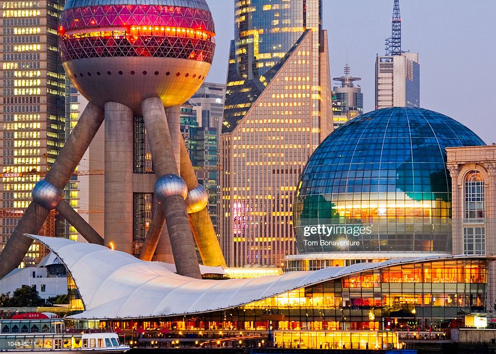 Pudong from The Bund with Oriental Pearl TV Tower