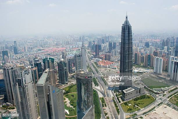 Pudong Shanghais financial district from the Oriental Pearl Tower The are is currently dominated here by the Lu Jia Zui buildings but reaching way...