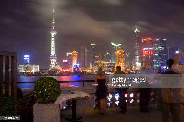 Pudong skyline from M on the Bund.