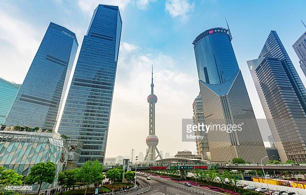 Pudong Skyscrapers Shanghai China