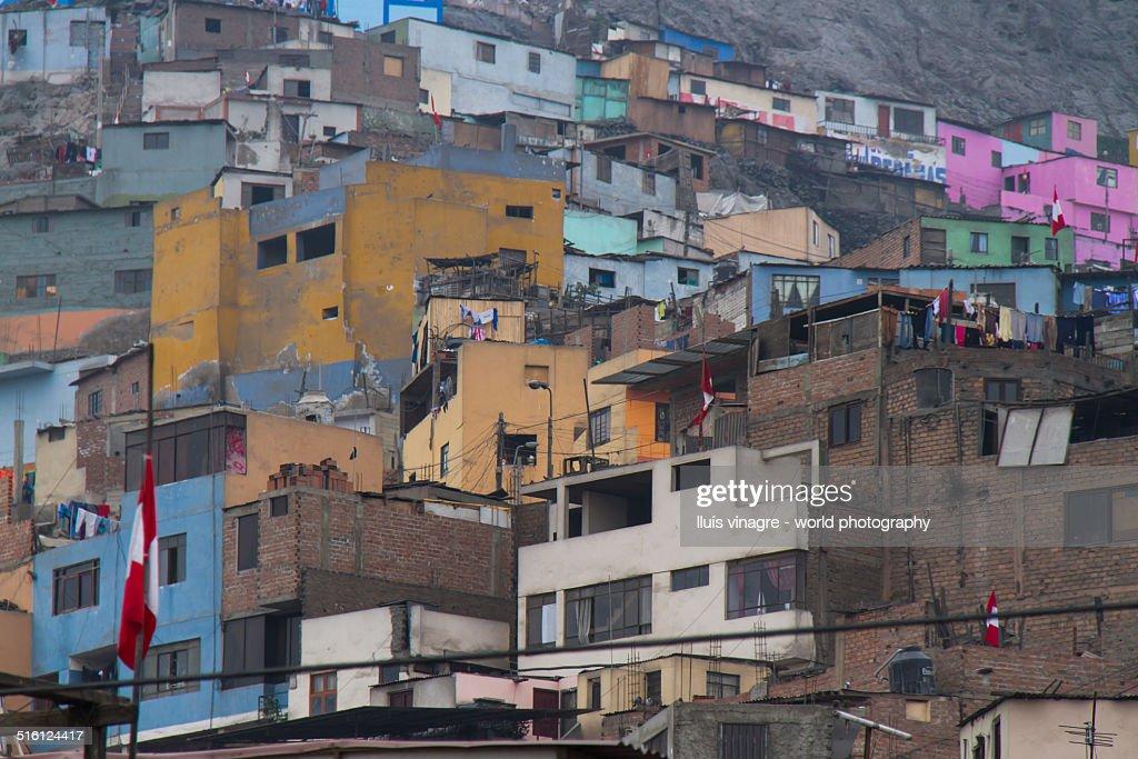 Pueblos in Lima : Stock Photo