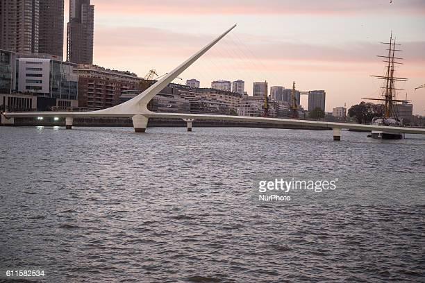 Puente de la Mujer in Buenos Aires on September 24 2016