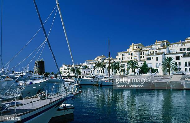 Puerto Banus, Costa del Sol's finest marina, and the harbour of Marbella, Malaga