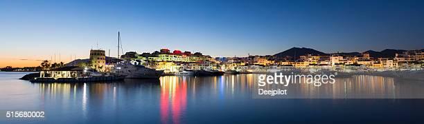 Puerto Banus harbour at twilight Andalucia Spain