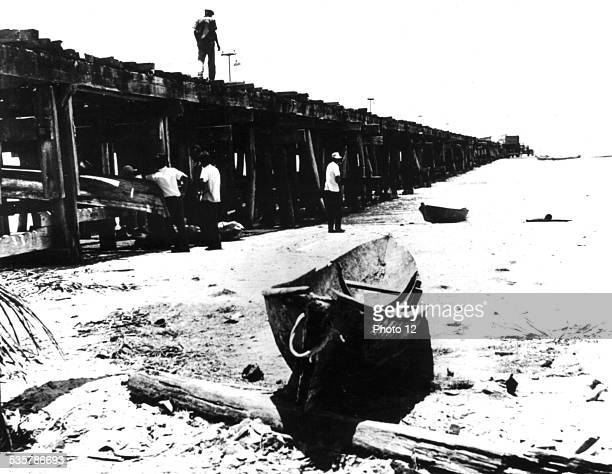 Puerto Cabezas quay where the CIA mercenary invasion against Cuba started Nicaragua