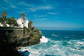 Puerto de la Cruz along the Atlantic Ocean, Tenerife, Canary Islands, Spain