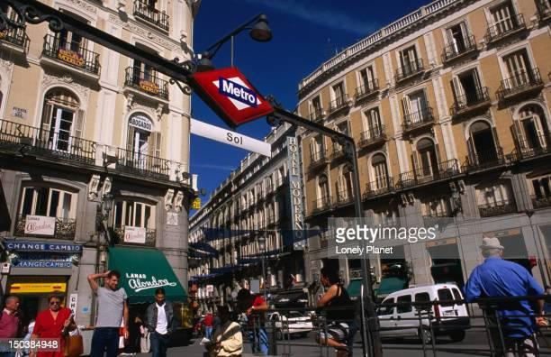 Puerto del Sol in the heart of Madrid.