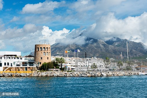 Puerto Jose Banus marina in Marbella, Spain : Foto de stock