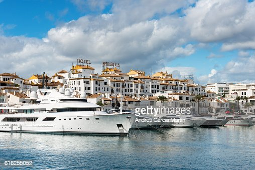 Puerto Jose Banus marina in Marbella, Spain : Stock Photo