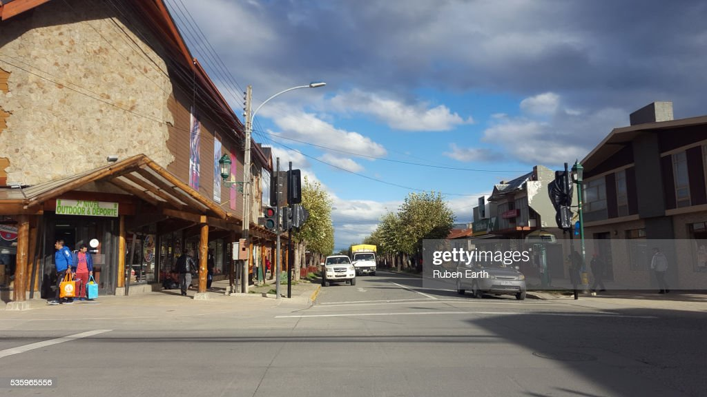 Puerto Natales Street : Stock Photo