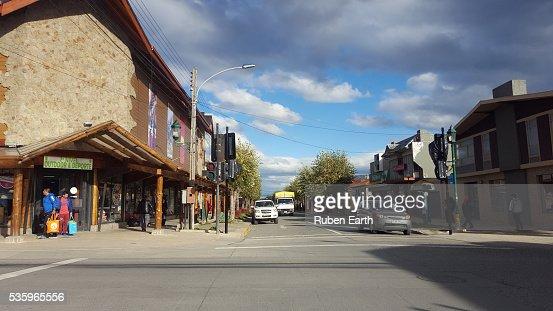 Puerto Natales Street : Stock Photo