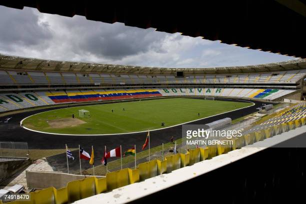 View of Cachamay stadium in Puerto Ordaz Venezuela 26 June 2007 where Chile Brazil Ecuador and Mexico will play for the Group B of the Copa America...