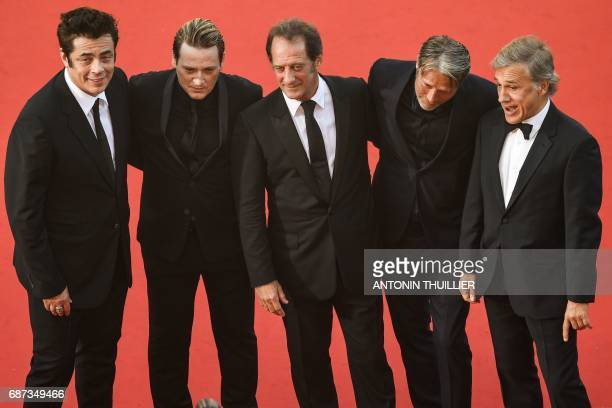 Puerto Rican actor Benicio del Toro French actor Benoit Magimel French actor Vincent Lindon Danish actor Mads Mikkelsen and Austrian actor Christoph...