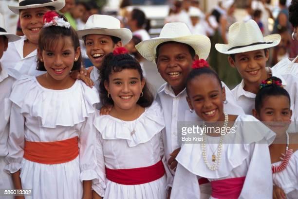Puerto Rican Children in Traditional Dress