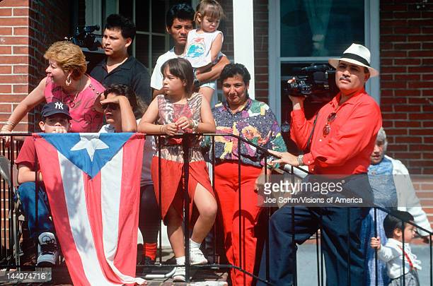 A Puerto Rican family with their national flag Wilmington DE