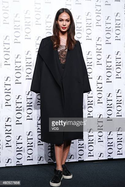 Puerto Rican fashion model Joan Smalls attends the Ports 1961 presentation during the Spring and Summer 2016 Shanghai Fashion Week at Shanghai...