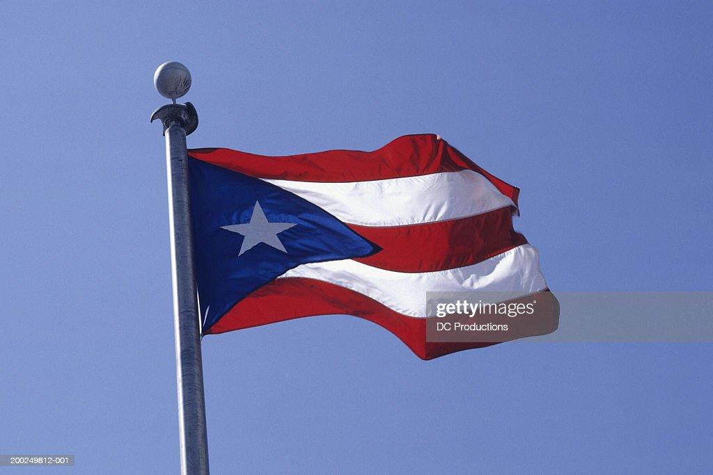 Puerto Rican flag : Stock Photo