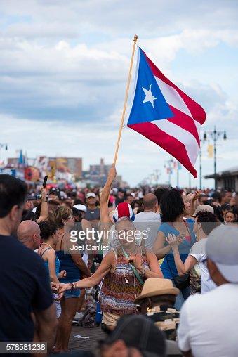 Puerto Rican pride on Coney Island boardwalk