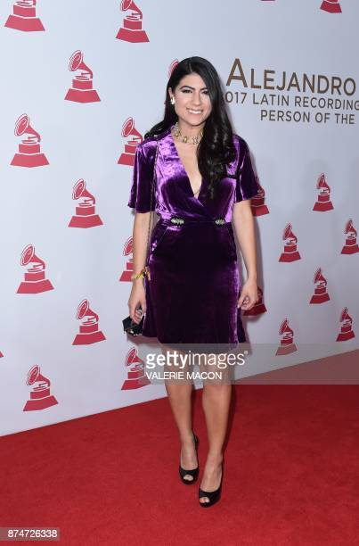 Puerto Rican singer Camila Luna arrives for the 2017 Latin Recording Academy Person of the Year gala honoring Spanish musician Alejandro Sanz in Las...