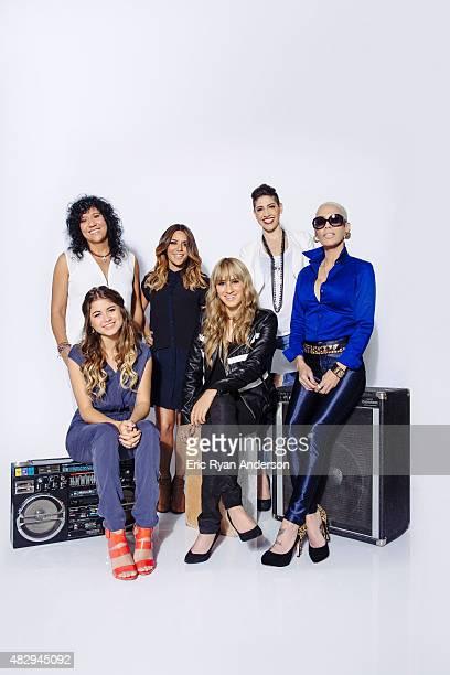 Puerto Rican singersongwriter Kany Garcia reggaeton artist Ivy Queen Spanish artist Rosana pop singer Sofia Reyes and sister duo Ha*Ash pose for a...