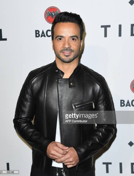 Puerto Rican singersongwriter Luis Fonsi attends the Stream TIDAL X Brooklyn Benefit Concert at Barclays Center of Brooklyn on October 17 2017 in New...